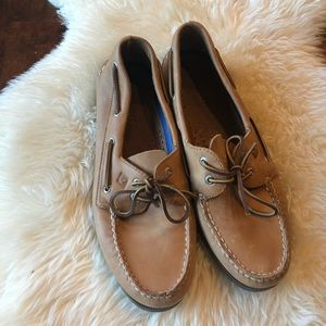 Sperry leather sock shoes sz 12